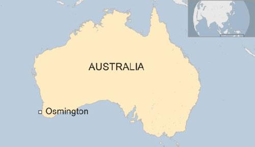 Vị trí thị trấn Osmington ở Australia. Đồ họa: BBC.