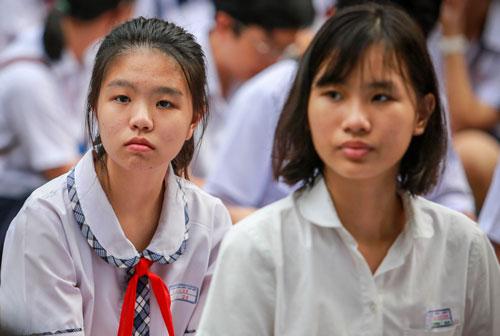 Học sinh dự thi vào lớp 10 THPT công lập tại TP HCM. Ảnh: Thành Nguyễn.