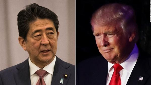 Thủ tướng Nhật Shinzo Abe và Tổng thống Mỹ Donald Trump. Ảnh: CNN.