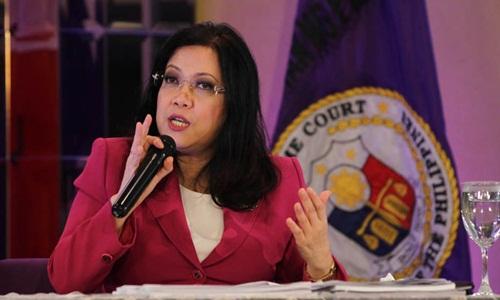 Bà Maria Lourdes Sereno là nữ chánh án tòa án tối cao đầu tiên trong lịch sử Philippines. Ảnh: ABS-CBN News.