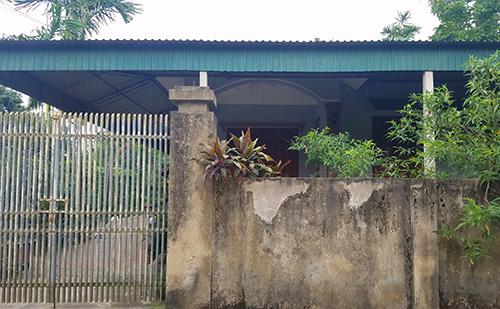 Căn nhà nơi bố mẹ Kiên sinh sống luôn đóng cửa từ khi Kiên gây ra vụ cướp. Ảnh: Đức Hùng