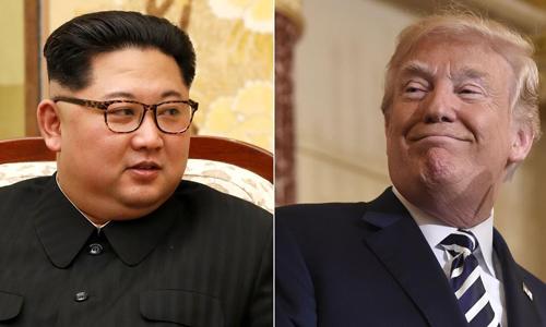 Lãnh đạo Triều Tiên Kim Jong-un, trái, và Tổng thống Mỹ Trump. Ảnh: CNN.