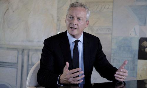 Bộ trưởng Tài chính Pháp Le Maire. Ảnh: Trustnodes.