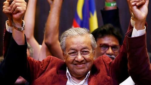 Thủ tướng Malaysia Mahathir. Ảnh: