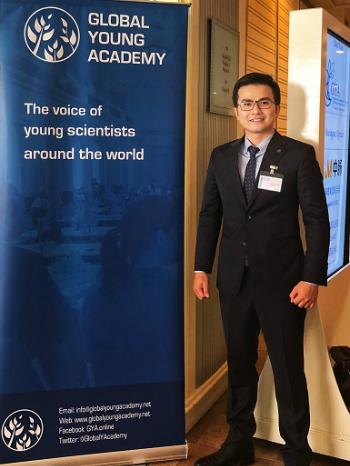 Trần Xuân Bách tại hội nghị GYA tổ chức tại Thái Lan. Ảnh: NVCC.