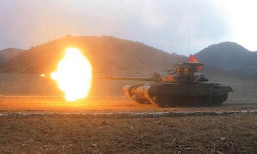 Xe tăng Triều Tiên tham dự giải đấu năm 2017. Ảnh: KCNA.