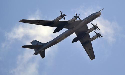 Oanh tạc cơ chiến lược Tu-95MS của Nga. Ảnh: TASS.