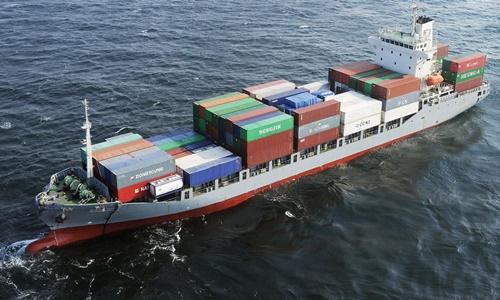 Một tàu chở hàng của Hàn Quốc. Ảnh: CGTN.