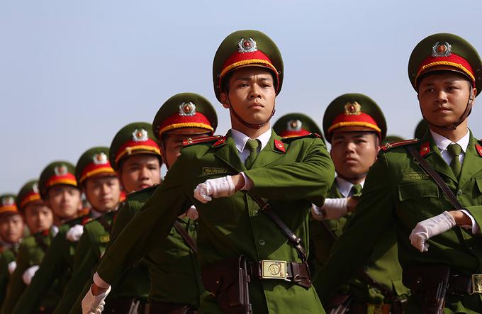 Học viện Cảnh sát tổng duyệt cho lễ đón nhận danh hiệu anh hùng