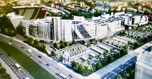 Phối cảnh trung tâm thương mại, giao lưu văn hóa Việt- Nhật được AeonMall hợp tác cùng Việt Phát đầu tư xây dựng tại Hải Phòng.