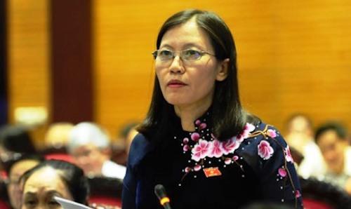 Chủ nhiệm Uỷ ban Tư pháp Lê Thị Nga. Ảnh: QH