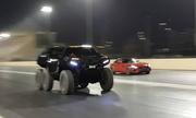 SUV 6 bánh cho siêu xe của Mercedes 'hít khói' trên đường đua