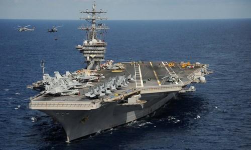 Tàu sân bay USS Dwight D. Eisenhower hồi năm 2012. Ảnh: US Navy.