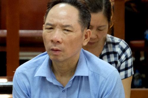Bị cáo - cựu phó giám đốc Sở Nông nghiệp và phát triển nông thôn Hà Nội Phan Minh Nguyệt tại tòa sơ thẩm.