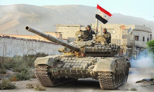 Binh sĩ Syria ở gần khu vực biên giới với Israel. Ảnh: SANA.