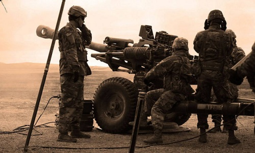 Binh sĩ lục quân Mỹ tác chiến trên chiến trường. Ảnh: Task and Purpse.
