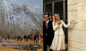 Hai cảnh tượng đối lập trong ngày Mỹ dời sứ quán đến Jerusalem