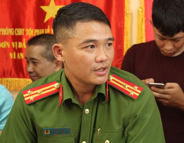Thượng tá Nguyễn Đăng Nam. Ảnh: Sơn Hòa.