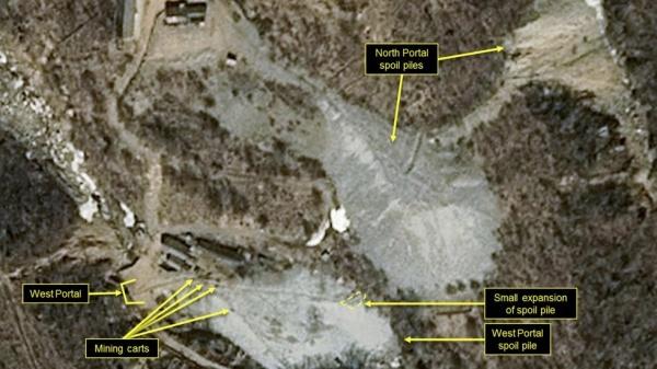 Hình ảnh bãi thử hạt nhân của Triều Tiên.