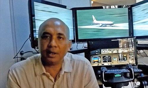 Cơ trưởng Shah, người điều khiển chiếc máy bay MH370 xấu số. Ảnh chụp màn hình.