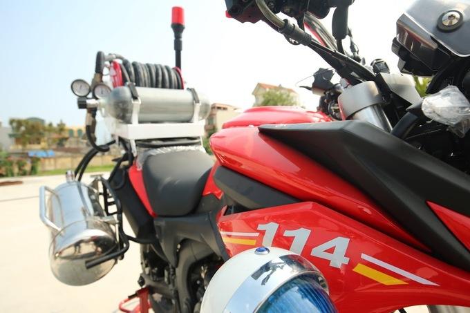 Dàn môtô đặc chủng của cảnh sát chữa cháy Việt Nam