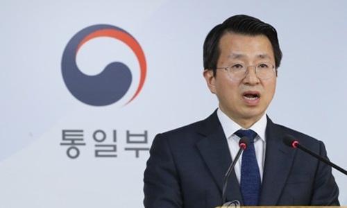 Người phát ngôn Bộ Thống nhất Hàn Quốc Baik Tae-hyun. Ảnh: Yonhap.