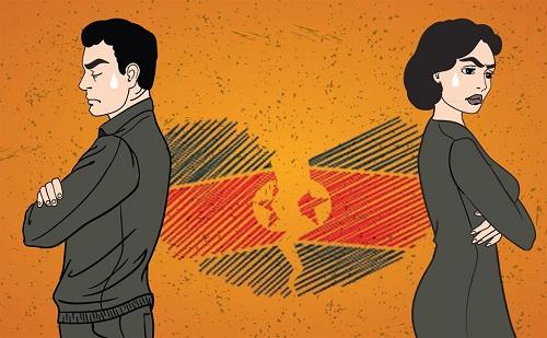 Bìa tiểu thuyết về vụ ly dị của một đôi vợ chồng Triều Tiên. Ảnh: Korea Times.
