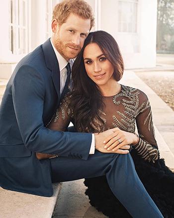 Hoàng tử Harry và hôn thê trong ảnh đính hôn. Ảnh:Kensington Palace