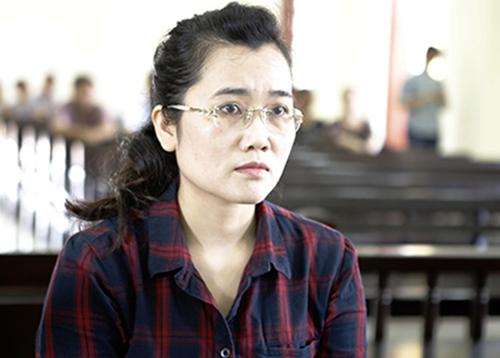 Nguyễn Thị Lam tại tòa. Ảnh: Nguyễn Hải.