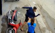 Cô gái rượt tên trộm xe máy chạy trối chết