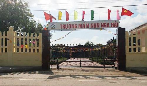 Trường Mầm non Nga Hải, nơi xảy ra vụ việc. Ảnh: Lam Sơn.