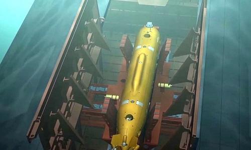 Mô hình thiết kế ngư lôi Poseidon. Ảnh:TASS.