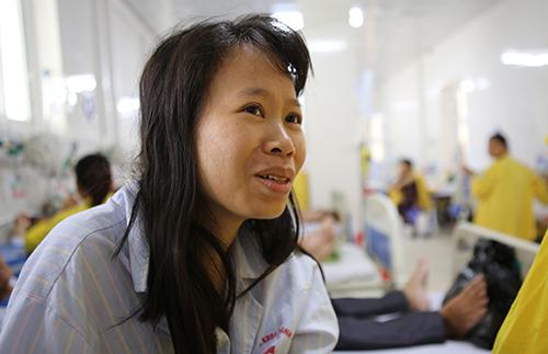 Chị Lê Thị Hoài Thu. Ảnh: Nguyễn Hải.