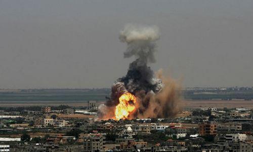 Một cơ sở của Hamas bị Israel tấn công hồi cuối năm 2017. Ảnh: AFP.
