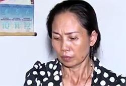 Phạm Thị Mai tại cơ quan điều tra. Ảnh: Công an cung cấp
