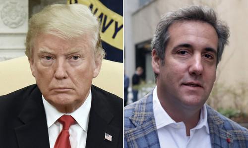 Tổng thống Trump và luật sư riêng Michael Cohen. Ảnh: NY Post.