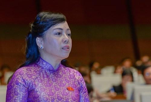 Bộ trưởng Y tế Nguyễn Thị Kim Tiến. Ảnh: QH