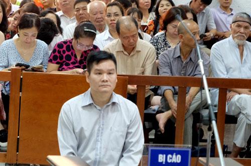 Bị cáo Hải tại tòa sơ thẩm.