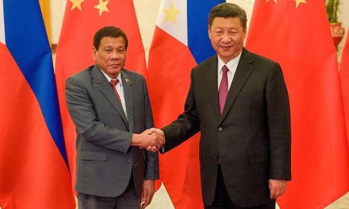 Tổng thống Duterte cho biết Chủ tịch Tập Cận Bình thể hiện sự ủng hộ vớiông và Philippines. Ảnh:Reuters.