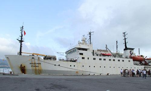 Tàu nghiên cứu biển của Nga. Ảnh: Viện Hàn lâm Khoa học và Công nghệ Việt Nam.