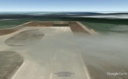Đường băng mang ký hiệu 23 Trung Quốc xây dựng phi pháp trên đảo Phú Lâm. Ảnh: Google Earth.