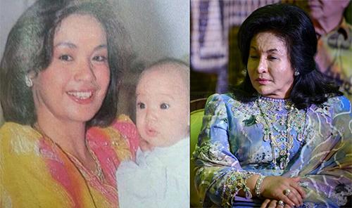 Hình ảnh bà Rosmah năm 1989 và hiện nay. Ảnh:Sarawak Report