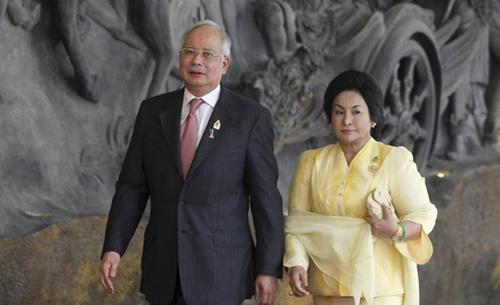 Cựu thủ tướng MalaysiaNajib Razak và phu nhânRosmah Mansor,