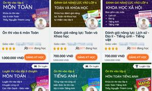 Trẻ luyện thi cấp tốc giành suất vào lớp 6 trường top ở Hà Nội
