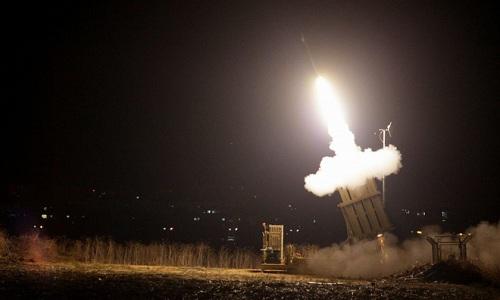 Hệ thống lá chắn Vòm sắt của Israel trong một lần khai hỏa diễn tập. Ảnh: Times of Israel.