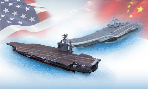 Tương quan sức mạnh tàu sân bay nội địa Trung Quốc và Mỹ. Bấm vào ảnh để xem đầy đủ.