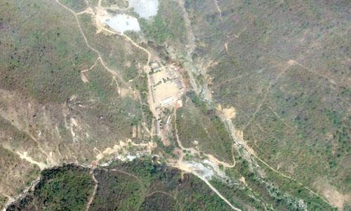 Bãi thử hạt nhân Punggye-ri ngày 14/5. Ảnh: Reuters.