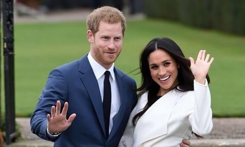 Hoàng tử Harry và cựu ngôi sao truyền hình Mỹ Meghan Markle. Ảnh: AP.