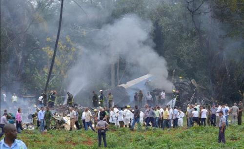 Hiện trường vụ rơi máy bay Cuba. Ảnh: AFP.
