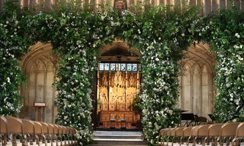 Lễ đường diễn ra hôn lễ giữa Hoàng tử Anh Harry và nữ diễn viên Mỹ Meghan Markle. Ảnh:PA.
